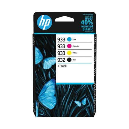 HP 932 Black / HP 933 CMY Original Ink Cartridge (Pack of 4) 6ZC71AE