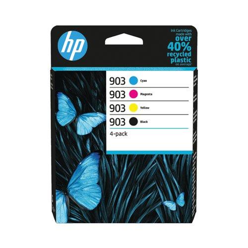 HP 903 CMYK Original Ink Cartridge (Pack of 4) 6ZC73AE