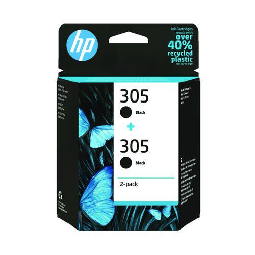 HP 305 Original Ink Cartridge Black (Pack of 2) 6ZD18AE