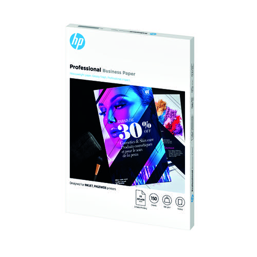 HP Professional Business Paper Glossy 180gsm A3 150 Sheets 7MV84A