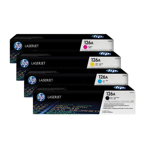 HP 126A Toner Cartridge Bundle Cyan/Magenta/Yellow/Black (Pack of 4) HP815972