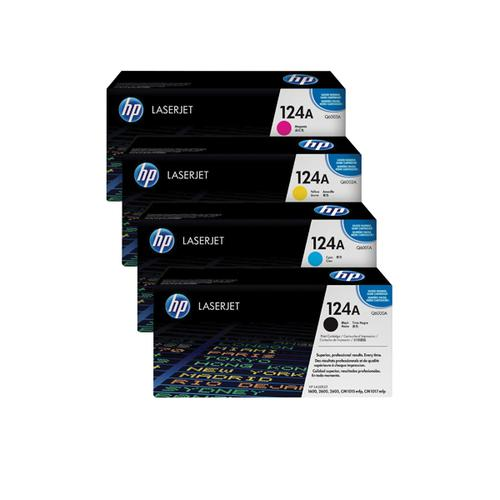 HP 124A Toner Cartridge Bundle Cyan/Magenta/Yellow/Black (Pack of 4) HP815974