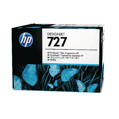 HP 727 Matte Black Photo Black Cyan Magenta Yellow Grey Designjet Printhead B3P06A