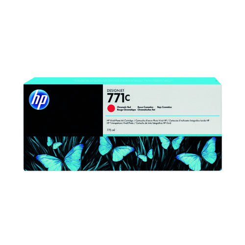 HP 771C Chromatic Red Designjet Ink Cartridge B6Y08A