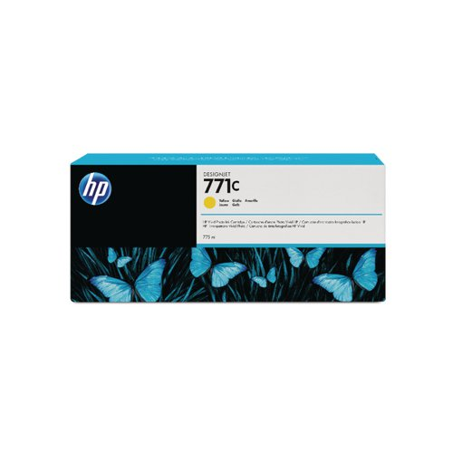 HP 771C Yellow Designjet Ink Cartridge B6Y10A