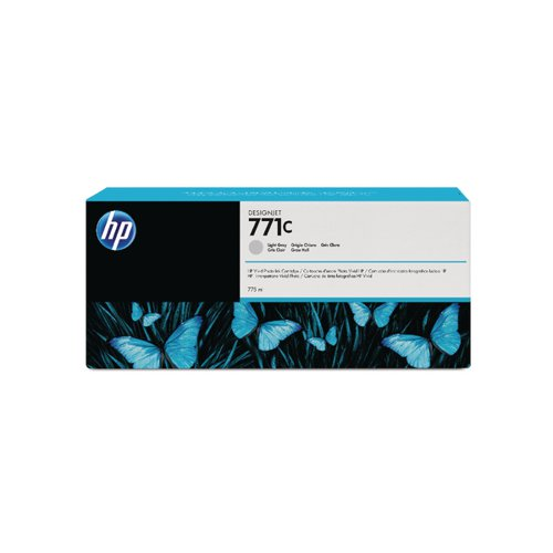 HP 771C Light Grey Designjet Ink Cartridge (Capacity: 775ml) B6Y14A