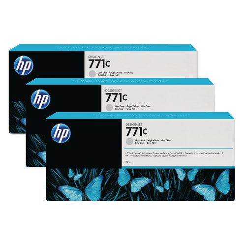 HP 771C Light Grey Designjet Ink Cartridge (Pack of 3) B6Y38A