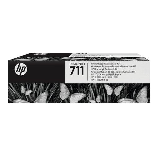 HP 711 Black /Cyan/Magenta/Yellow DesignJet Printhead Replacement Kit C1Q10A