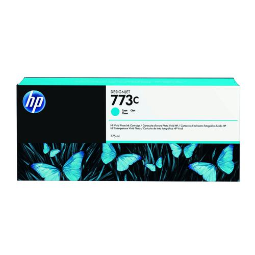 HP 773C Cyan Original Ink Cartridge C1Q42A