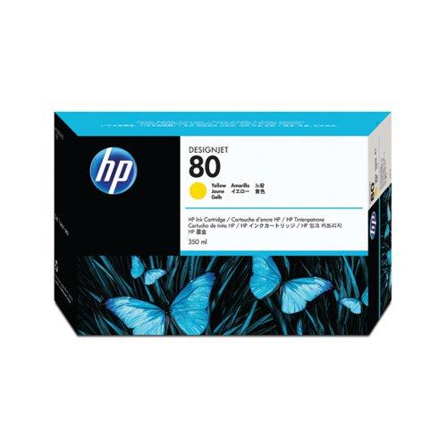 HP 80 Yellow Inkjet Cartridge 350ml C4848A