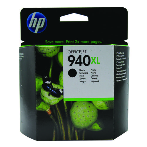 HP 940XL High Yield Black Inkjet Print Cartridge C4906AE
