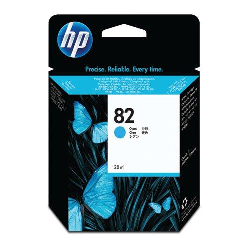 HP 82 Cyan Inkjet Cartridge (High Yield 69ml 1 430 Page Capacity) C4911A