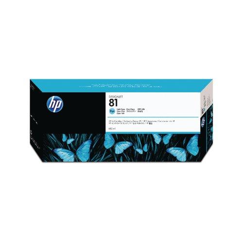 HP 81 Light Cyan Inkjet Cartridge Dye Ink (Capacity: 1000 pages) C4934A