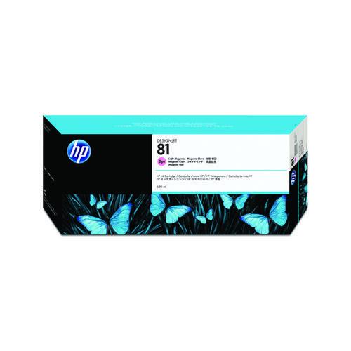 HP 81 Light Magenta Inkjet Cartridge Dye C4935A