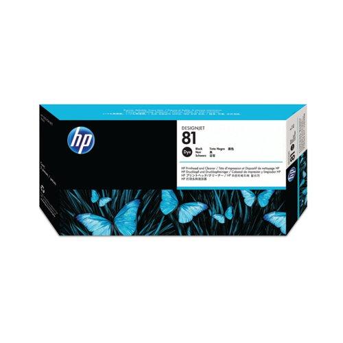 HP 81 Black Dye Printhead and Cleaner C4950A