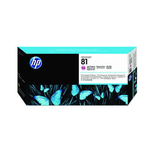HP 81 Light Magenta Dye Printhead and Cleaner C4955A