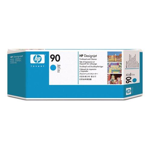 HP 90 Cyan Printhead and Cleaner C5055A