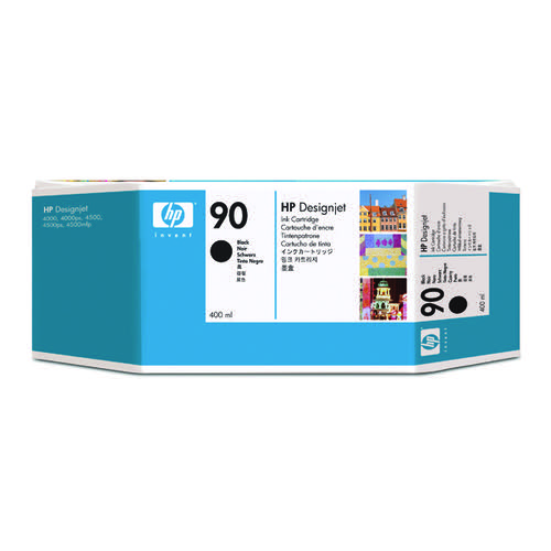 HP 90 Black Inkjet Cartridge for the DesignJet 4000 Series C5058A