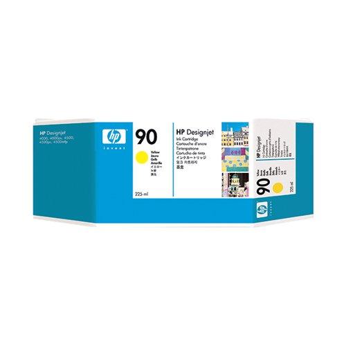 HP 90 Yellow Inkjet Cartridge Standard Yield 225ml C5064A