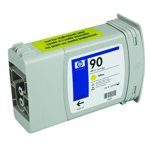 HP 90 Yellow Inkjet Cartridge Pack of 3 (High Yield 400ml) C5085A