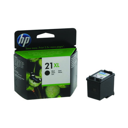 HP 21XL High Yield Black Inkjet Cartridge (475 page capacity) C9351CE