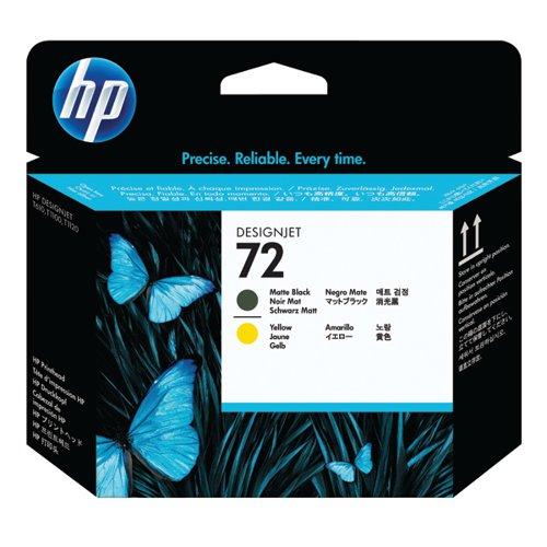 HP 72 Yellow/Matte Black Printhead C9384A
