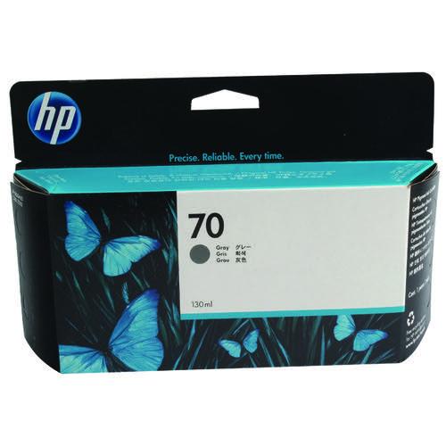 HP 70 Grey Inkjet Cartridge (Standard Yield 130ml 4400 Page Capacity) C9450A