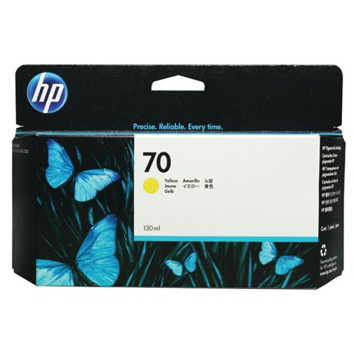 HP 70 Yellow Inkjet Cartridge (Standard Yield 130ml) C9454A