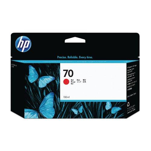 HP 70 Red Inkjet Cartridge (Standard Yield 130ml 2 200 Page Capacity) C9456A