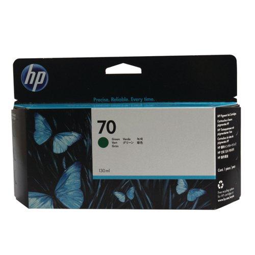HP 70 Green Inkjet Cartridge (High Yield 130ml) C9457A