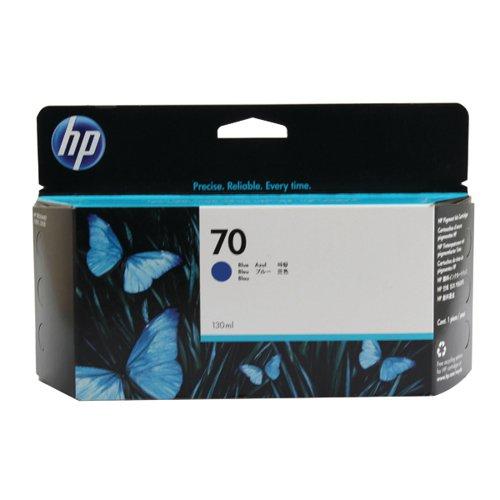 HP 70 Blue Inkjet Cartridge (Standard Yield 130ml 1 650 Page Capacity) C9458A