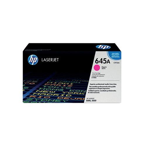 HP 645A Magenta Laserjet Toner Cartridge C9733A