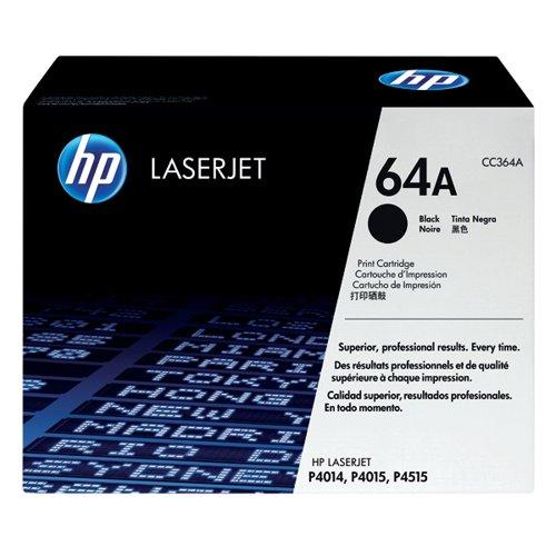HP 64A Black Laserjet Toner Cartridge CC364A