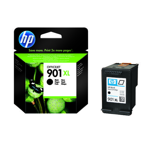 HP 901XL Black High Yield Officejet Inkjet Cartridge CC654AE