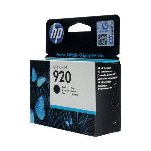 HP 920 Black Ink Cartridge (Standard Yield 10ml Capacity) CD971AE