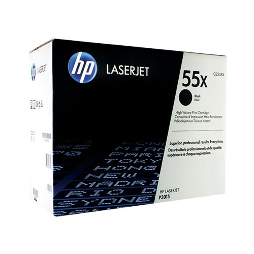 HP 55X Black High Yield Laserjet Toner Cartridge CE255X