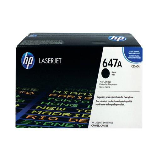 HP 647A Black Laserjet Toner Cartridge CE260A