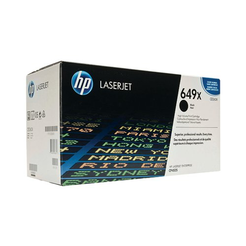 HP 649X Black High Yield Laserjet Toner Cartridge CE260X