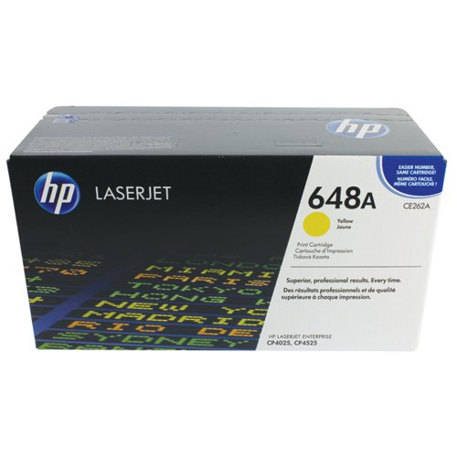 HP 648A Yellow Laserjet Toner Cartridge CE262A