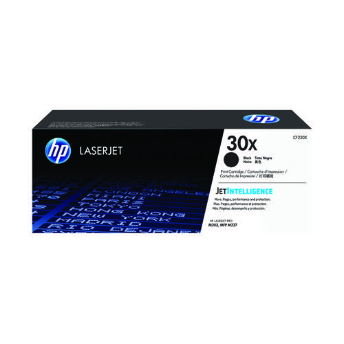 HP 30X High Yield Black Laserjet Toner Cartridge CF230X