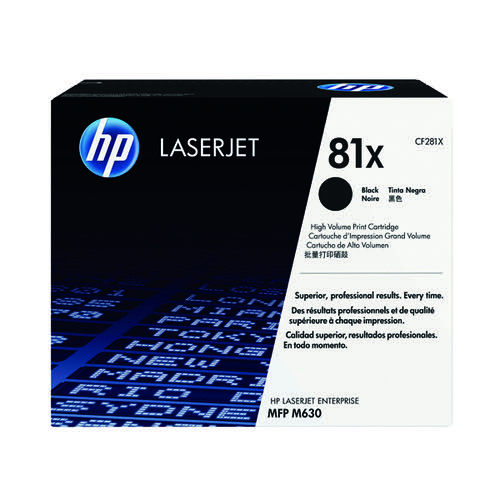 HP 81X Black High Yield Laserjet Cartridge (25 000 page capacity) 281X