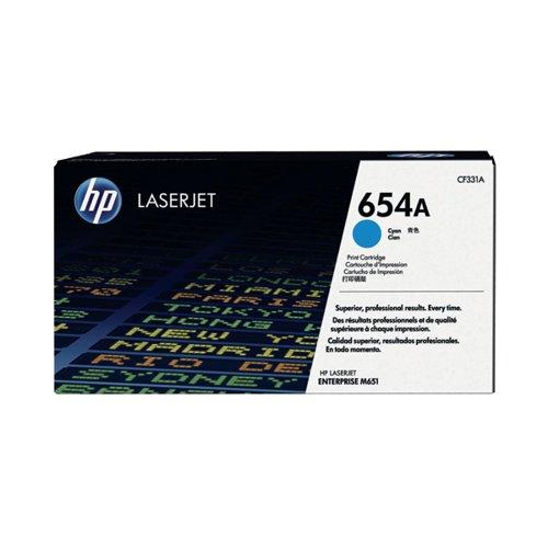 HP 654A Cyan Laserjet Toner Cartridge CF331A