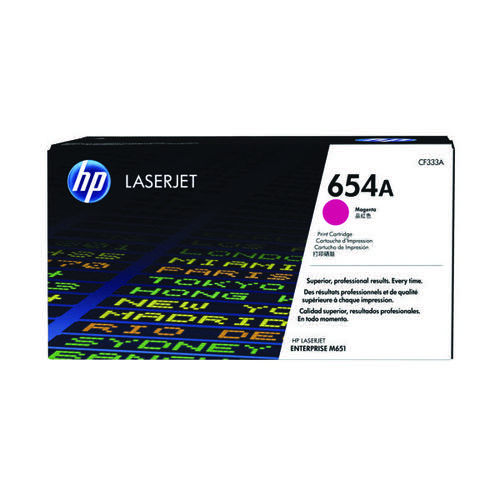HP 654A Magenta Laserjet Toner Cartridge CF333A