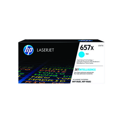 HP 657X High Yield Cyan Original LaserJet Toner Cartridge CF471X