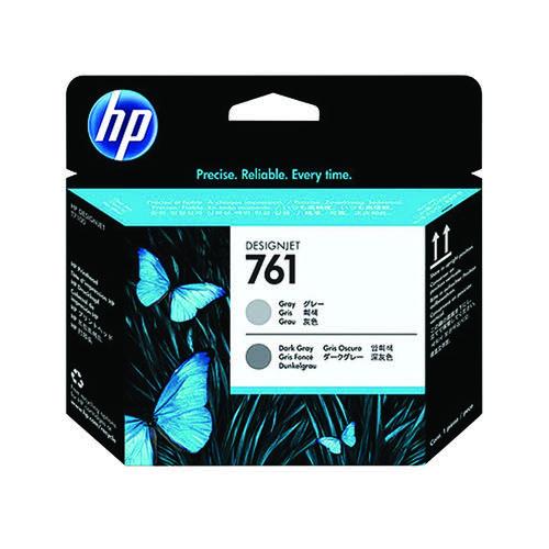 HP 761 Designjet Printhead Grey/Dark Grey (Capacity: 8,500 pages) CH647A