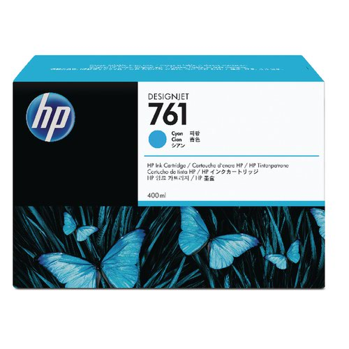 HP 761 Cyan Designjet Inkjet Cartridge CM994A