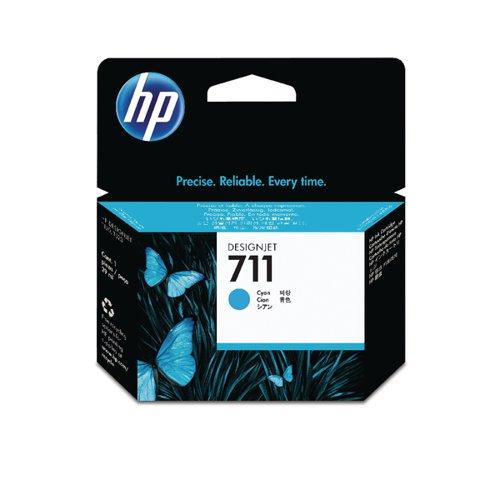 HP 711 Cyan Inkjet Cartridge (Standard Yield 29ml) CZ130A