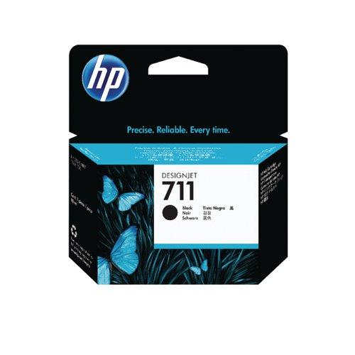 HP 711 Black Inkjet Cartridge 80ml CZ133A