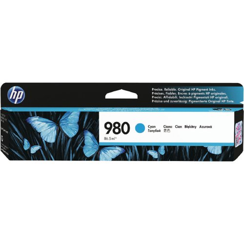 HP 980 Cyan Inkjet Cartridge Standard Yield D8J07A