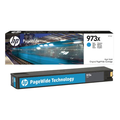 HP 973X Cyan PageWide Inkjet Cartridge High Yield F6T81AE
